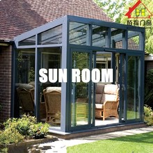 Baifu Tempered Glass Material Free Standing Portable Style Sun Rooms