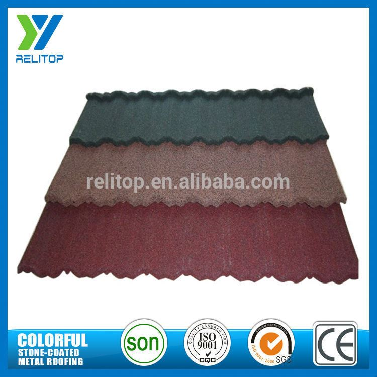 Guangdong Supplier Aluminium Zinc Sand Chip Coated Roof Tiles Prices