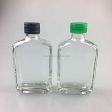 popular 100ml small square glass liquor wine bottle for gift wrapped with lid
