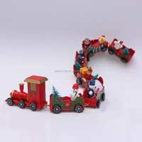 New Wooden Christmas Santa Train Home Decor Kids Toy Gift Xmas Party Ornament