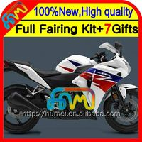 Body For HONDA Injection CBR250R MC41 11-13 Blue white 11CL9 CBR 250R CBR250 R 11 12 13 2011 2012 2013 Fairing Blue red hot