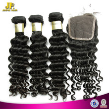 JP Hair Amazing Silky Deep Wave Virgin Remy Peruvian Hair Weave
