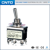 CNTD Supply Double Pole Double Throw Toggle Switch 12 MM C523B ON-OFF-ON