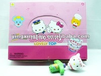 hello kitty flash led music spinning top