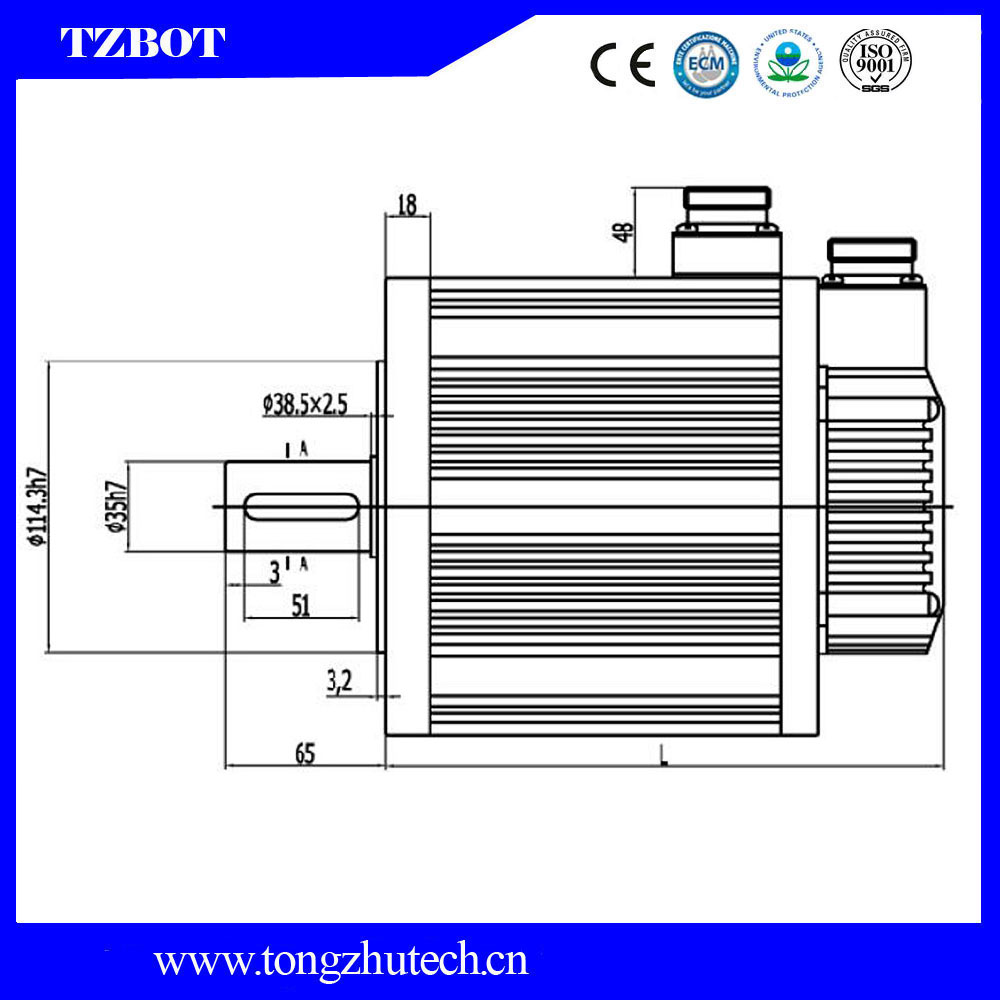 Cheap Price Industrial 12A 16A 1000rpm Brushed General 220v 380v 3 Phase Electric AC Servo Motor for Injection Moulding Machine