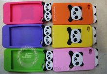 Many colors of panda shape silicone cellphone case in 2012