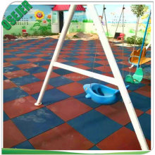 Anti slip wear resistance rubber playground tiles for outdoor safty floor