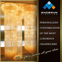 Zhongshan sale Asfour Crystal long artistic hotel indoor lighting