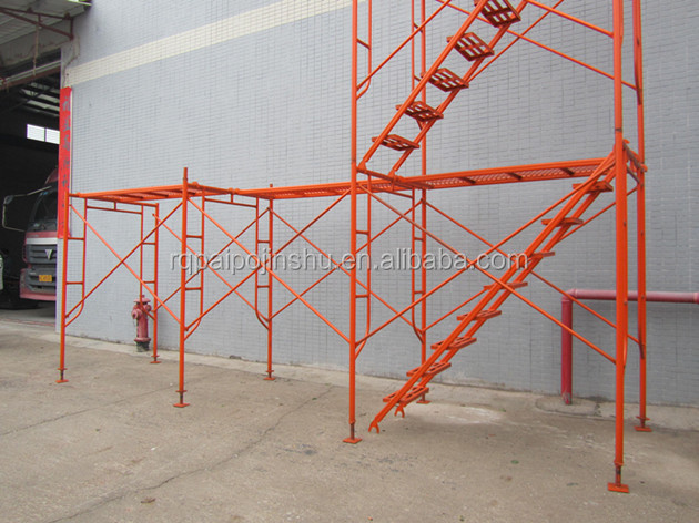 Q235 Ladder Scaffolding With frame Brace And Joint Pin