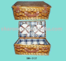 Picnic basket for 4 with full set of cutlery