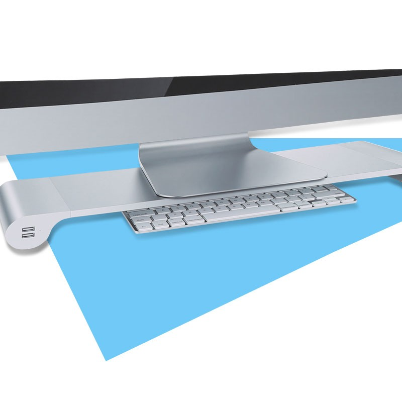 Multiple laptop computer stand alone LCD monitor stand Desk Organizer with 4 USB Ports