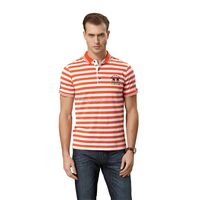 new style yarn dyed men t shirt wholesale clothing 100% cotton man polo t shirt