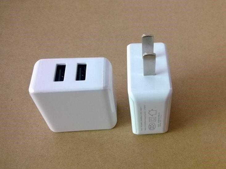 High quality factory price Universal 2 USB Ports US/EU Plug Home Travel Wall AC Power Charger Adapter for iphone6s/6s plus