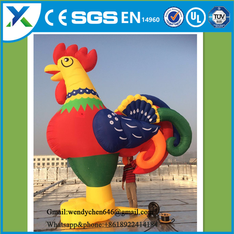 Customized advertising giant inflatable Chicken /rooster new year/ inflatable rooster