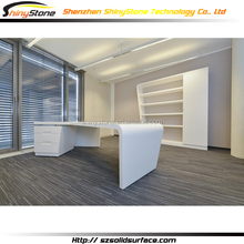Boss office design white solid surface furniture office