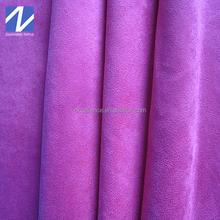 New design polyester microfiber brushed faux suede velvet fabric for sofa