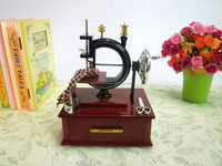 Classical Sewing Machine Design Music Box Creative Wedding Gifts Music Box Children Gifts Birthday Gifts Room Decoration