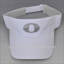 cotton visor caps/high crown visor cap wholesale