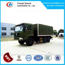 DongFeng all-wheel drive van box truck,6x6 dry van delivery truck 10-15tons