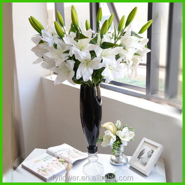 150431 Fashionable hotsell artificial white lily flowers