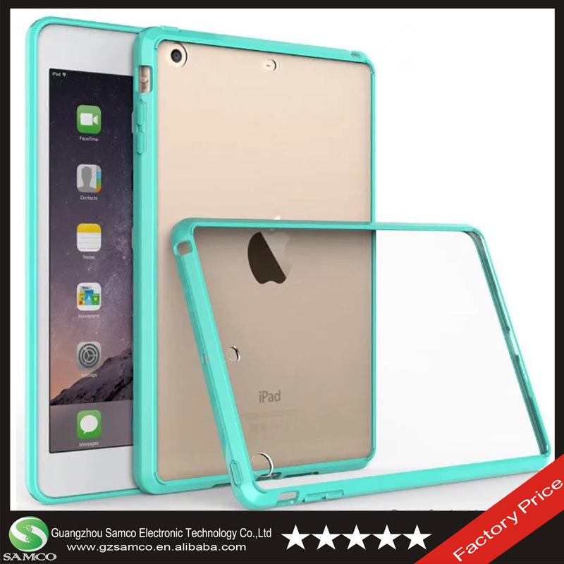 Samco Luxury Crystal Clear Hard PC Back Case Soft TPU Bumper for iPad Mini 1 2 3