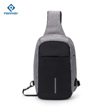 Wholesale Best Chest canvas Sport Cross Body shoulder sling bag backpack , best sell man triangular pack backpack with one strap
