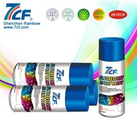 Retroreflective Aerosol Fluorescent Wall Paint