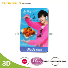3D Lenticular Dicos fast food Membership Card with QR Code