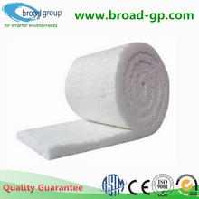 Ceramic fiber blanket for high temperature furnace insulation material