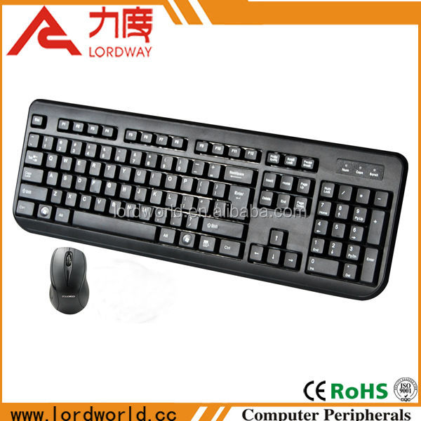 China supplier computer keyboard and mouse combo with 2.4ghz usb wireless receiver