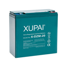 Rechargeable 12v Batteries 20ah Deep Cycle Life Battery Brand XUPAI 12v 20ah e-bike Lead Acid Battery 6-dzm-20