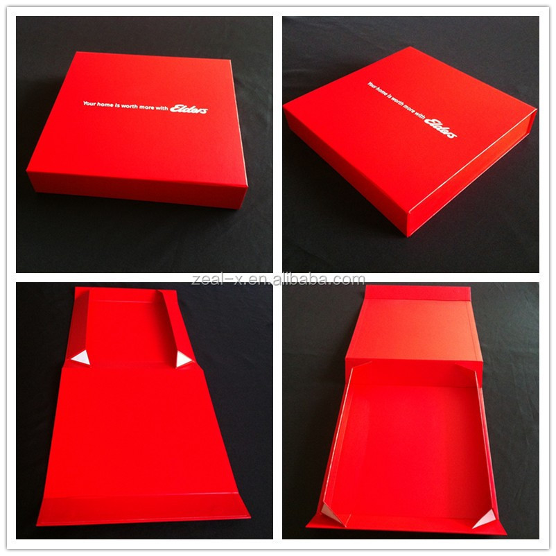 High quality paper factory produce custom red apparel box packaging box