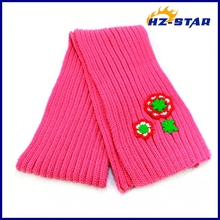 HZM-13316012 fashion child with flower jacquard popular acrylic name brand scarf