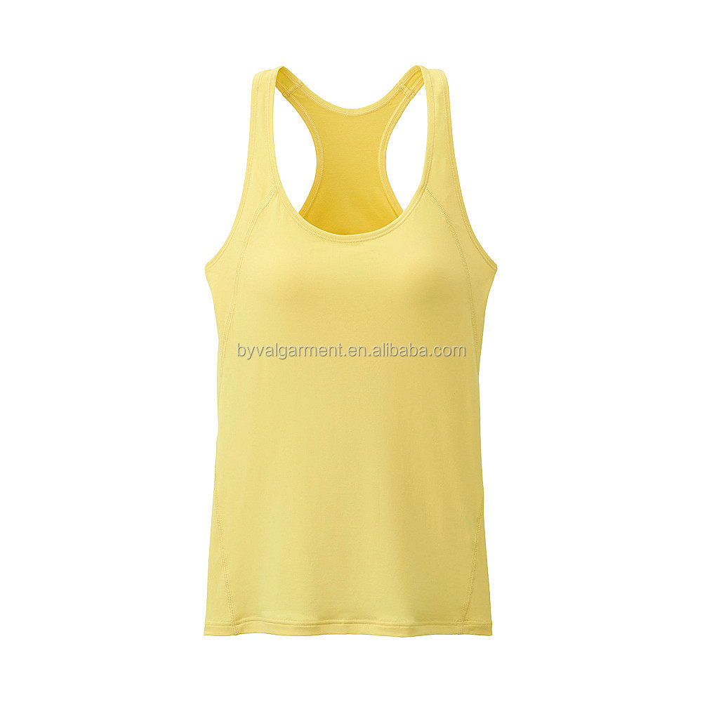 Ladies tank top sports tank top with bra
