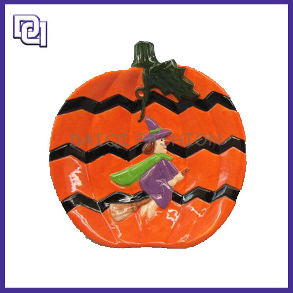 2015 Hot Style Halloween Resin Decoration,Halloween Colorful Witch Pumpkin Gifts