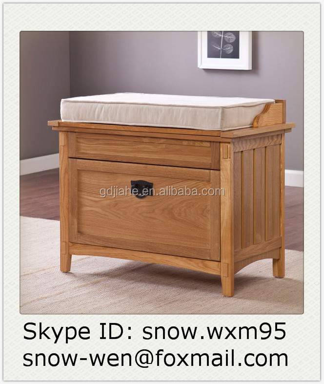 New Model Wooden Color Shoe Storage Bench, Shoe Storage Cabinet