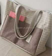 fashion natural raw cotton canvas tote bag