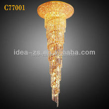 C77001 modern iron pendant lighting, chandelier lamp, wedding standing crystal t.light holder