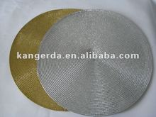 Golden round woven placemat(Christmas)