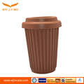 Hot selling custom colorful drinking silicone travel coffee cup with silicone cup cover