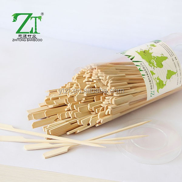 Factory direct supply bamboo skewer with custom logo