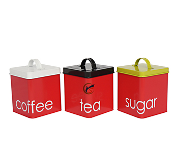 Food grade metal tea coffee sugar kitchen canister sets