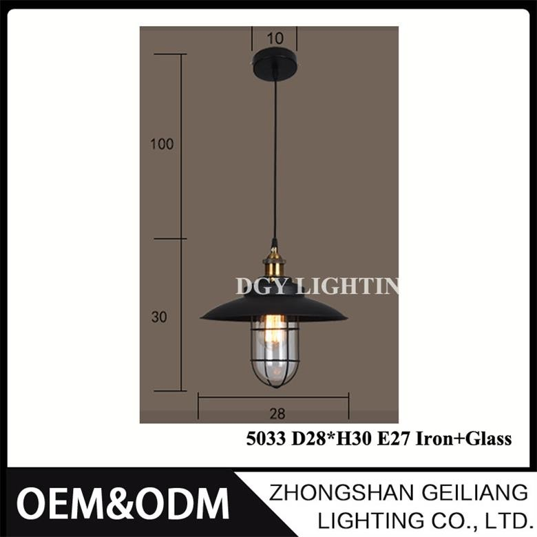 hot sale restaurant loft vintage industrial iron pendant lamp factory