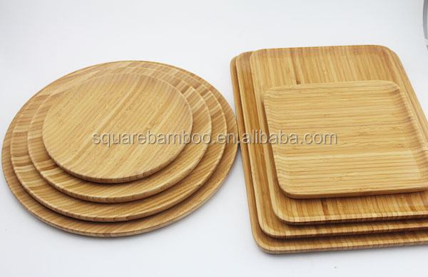 Round wooden plate,wood plates to paint,round divided plate