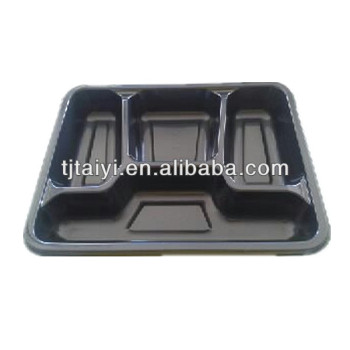 Disposable microwave food tray Oven safe food container Plastic frozen food tray TY-0032