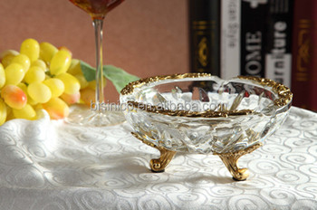 Royal Bronze Crystal Ashtray, Luxury Home Decorative Ashtray (BF01-0217-1)