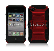 China wholesale hybrid kickstand case for iphone5
