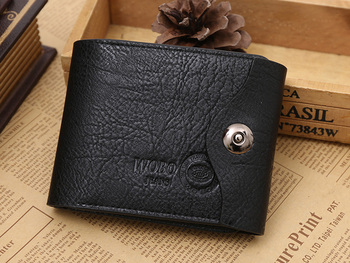 Factory Wholesale pu men's wallet with coin pocket