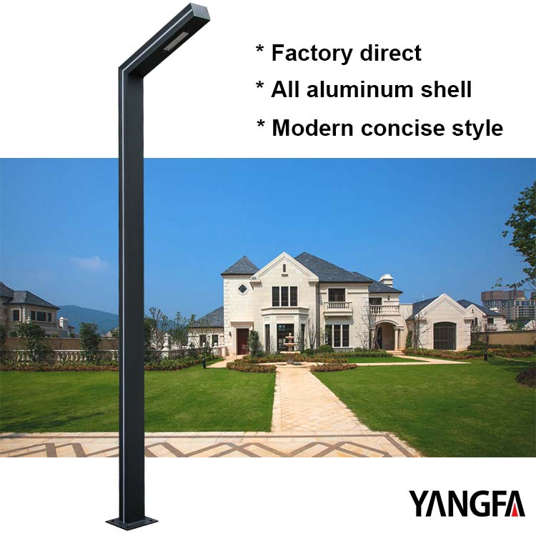 Factory direct modern style garden lamp post led landscape lighting