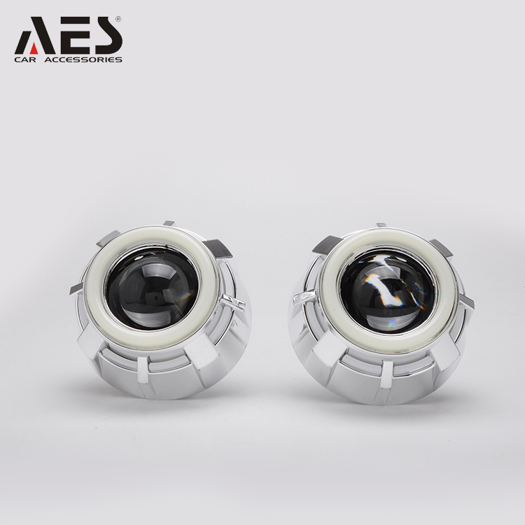 "AES G1T Auto&motorcycle hid bi xenon LED angel eyes 2.5"" projector lens kit H1 bulbs headlight"